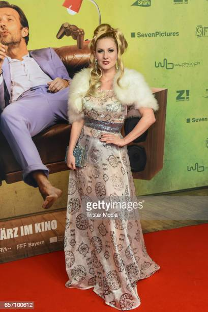 Burlesque Icon Marlene von Steenvag during the premiere of the film 'Lommbock' at CineStar on March 23 2017 in Berlin Germany