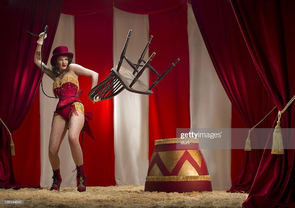 burlesque liontamer : Stock Photo