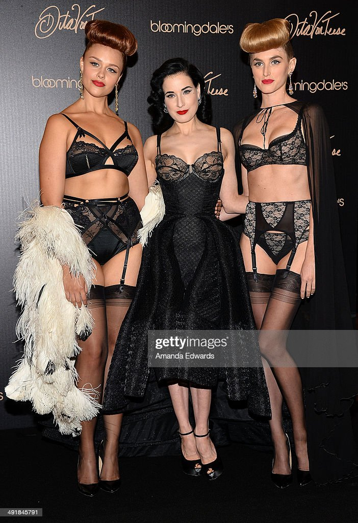 Dita Von Teese Launches Her Lingerie Collection At Bloomingdales
