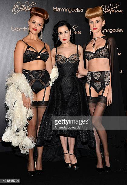 Burlesque performer Dita Von Teese launches her lingerie collection at Bloomingdale's Century City on May 17 2014 in Century City California