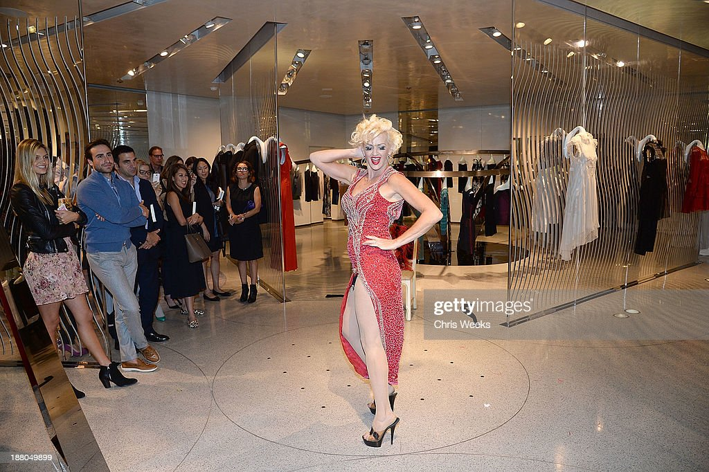 Burlesque performer Kitty attends Leslie Zemeckis' book signing for 'Behind the Burly Q' at Alberta Ferretti Boutique on November 14, 2013 in West Hollywood, California.