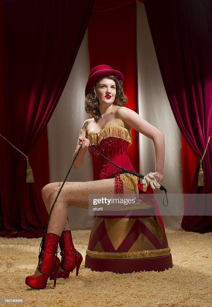 burlesque ringmaster : Stock Photo