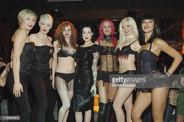 Burlesque superstar Dita Von Teese Kara McKinney Polina Volchek Krystle Richeson and Elena Lee attend the party to reveal the winner of MGM Grand's...