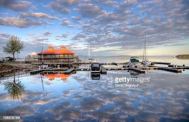 Burlington Harbor on Lake Champlain
