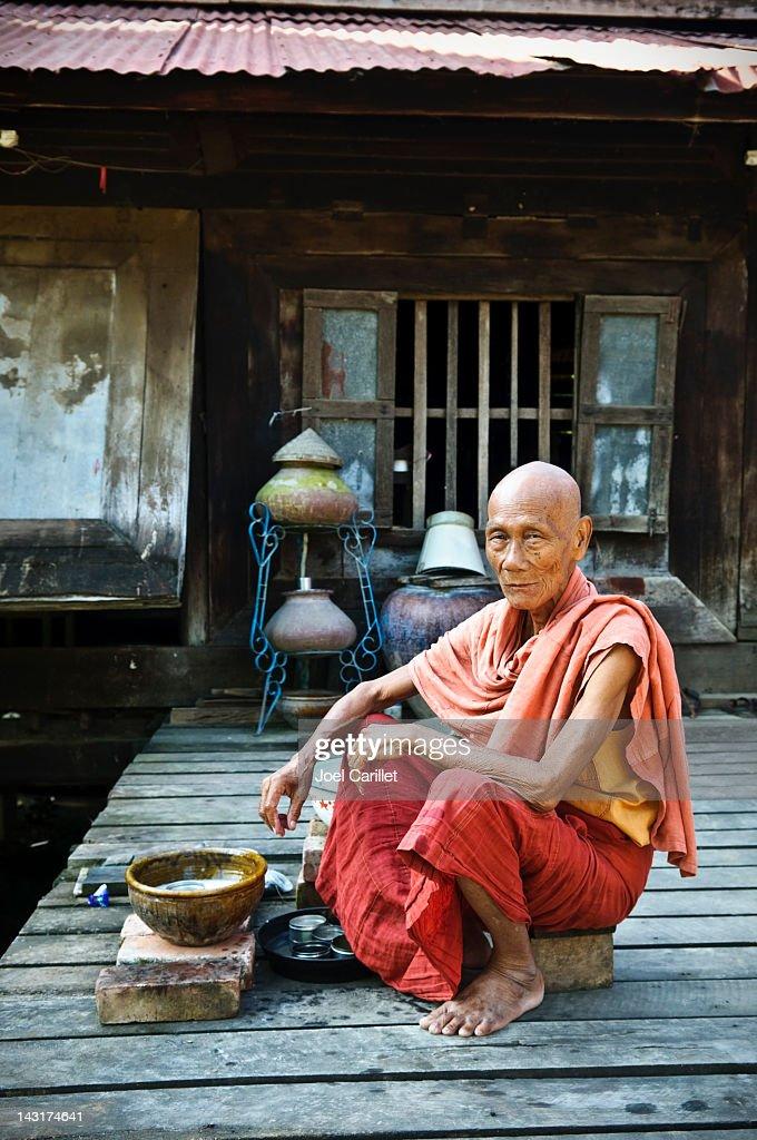 Burmese monk : Stock Photo