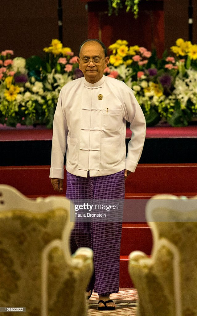 Burmese President U <a gi-track='captionPersonalityLinkClicked' href=/galleries/search?phrase=Thein+Sein&family=editorial&specificpeople=787536 ng-click='$event.stopPropagation()'>Thein Sein</a> walks back to his seat after a speech at the opening ceremony of the ASEAN summit on November 12, 2014 in Naypyidaw, Myanmar. Myanmar's capitol, Naypyidaw, is hosting the 25th Association of Southeast Asian Nations (ASEAN) summit with world leaders including US President Barack Obama, Thai Premier Gen. Prayuth Chan-Ocha, Indonesian President Joko Widodo and Indian Premier Narendra Modi expected to attend.