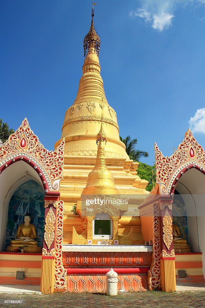 Burmese Temple, Penang, Malaysia. : Stock Photo
