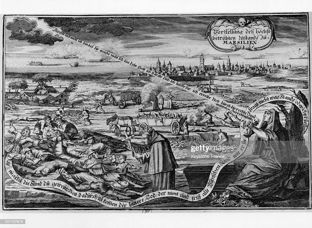 FRANCE CIRCA 1720 Burn German Eighteenth Century On The Epidemic Of Plague In Marseilles Which Began On May 25Th 1720 When A Merchant Vessel Entering...