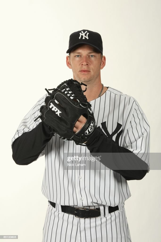 A.J. Burnett #34 of the New York Yankees poses during Photo Day on February 19, 2009 at Legends Field in Tampa, Florida.