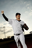 AJ Burnett of the New York Yankees poses for a photo during Spring Training Media Photo Day at George M Steinbrenner Field on February 25 2010 in...
