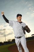 J Burnett of the New York Yankees poses for a photo during Spring Training Media Photo Day at George M Steinbrenner Field on February 25 2010 in...