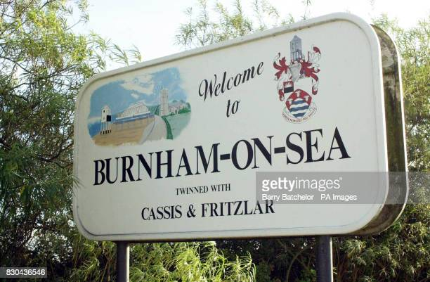 BurnhamOnSea road sign in Somerset Jackie Richards the Conservative Mayor of Burnham and Highbridge today thank fellow councillors at a council...