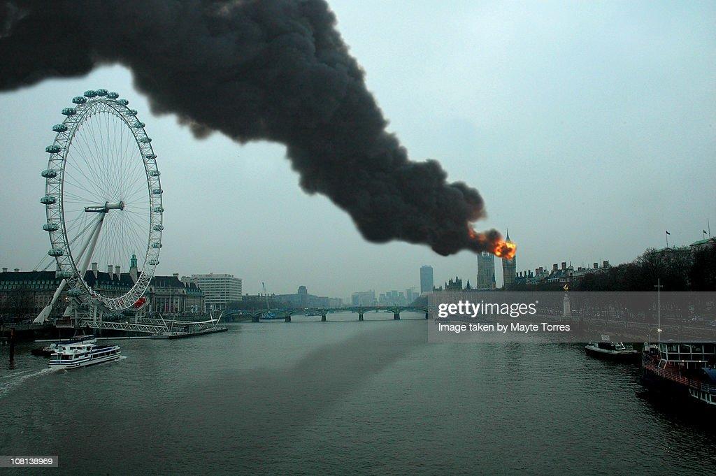 Burning Big Ben