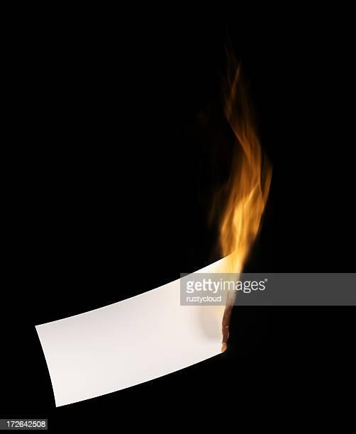 Burning blank Paper