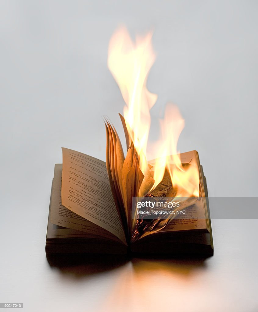 Burning Book : Stock Photo