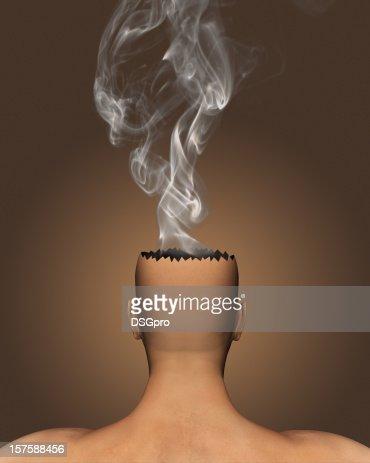 Burning brain