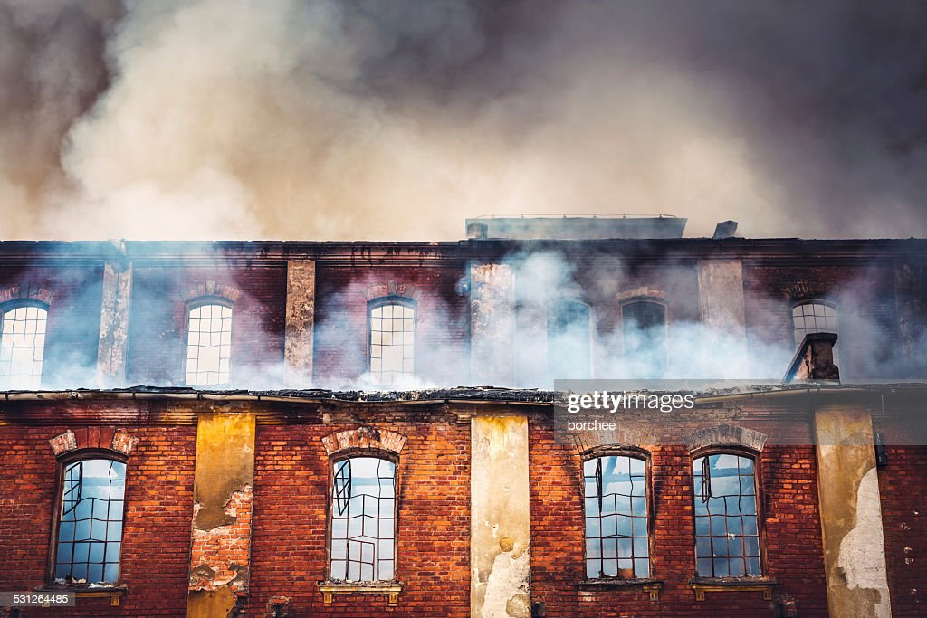 Burning Building : Stock Photo