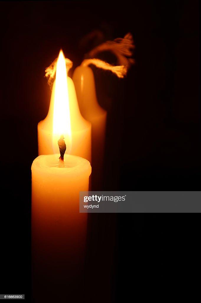 burning candle : Stock Photo
