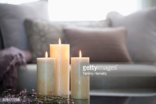 Burning candles : Stock Photo