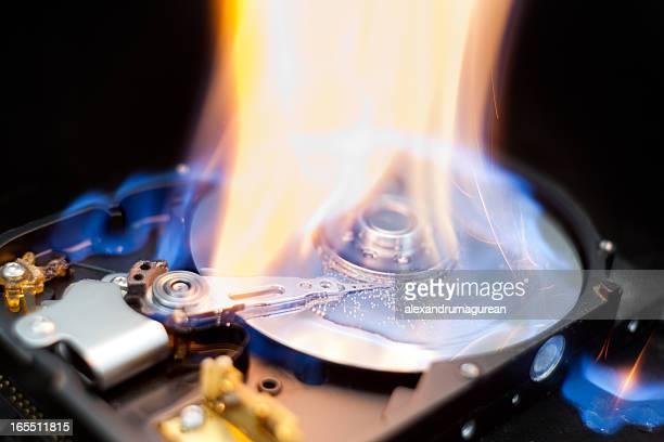Burning Hard Disk Drive