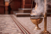 Incense senser burning in the sanctuary.