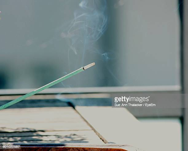 Burning Incense Stick With Smoke