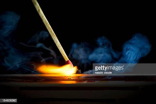 burning 一致する