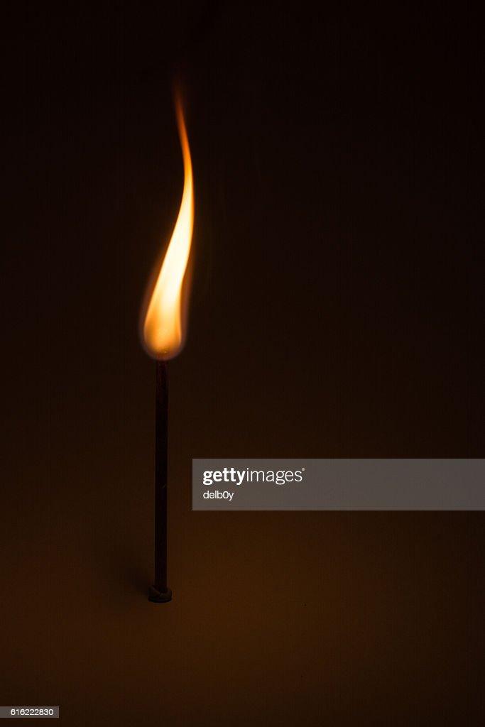 Burning Match : Stock Photo