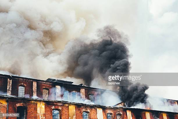 Burning Old Building