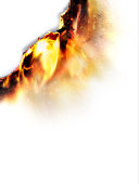 Burning paper, close-up (Digital Enhancement)