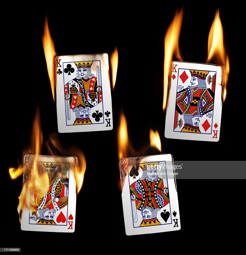 Burning Playing Cards - Kings