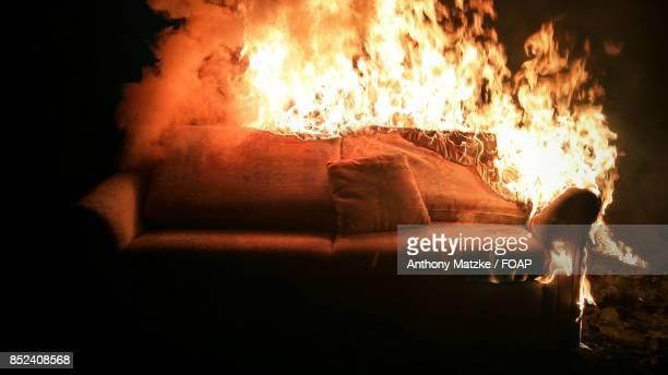 Burning sofa