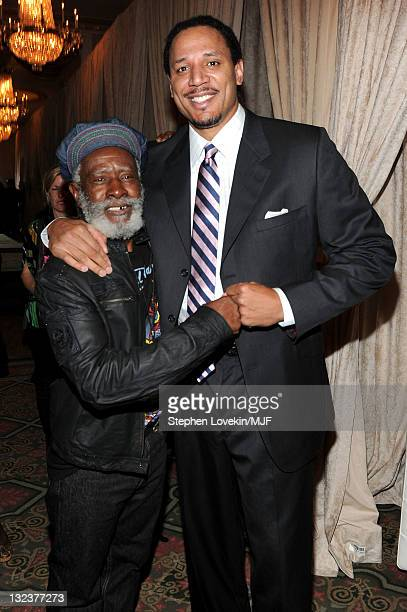 Burning Spear and Brian Grant attend the Michael J Fox Foundation's 2010 Benefit 'A Funny Thing Happened on the Way to Cure Parkinson's' at The...