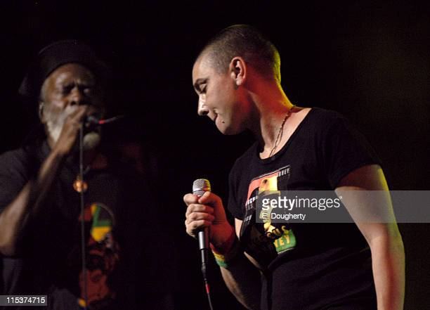 Burning Spear and Sinead O'Conner during 5th Annual Jammy Awards at Madison Square Garden Theater in New York City New York United States