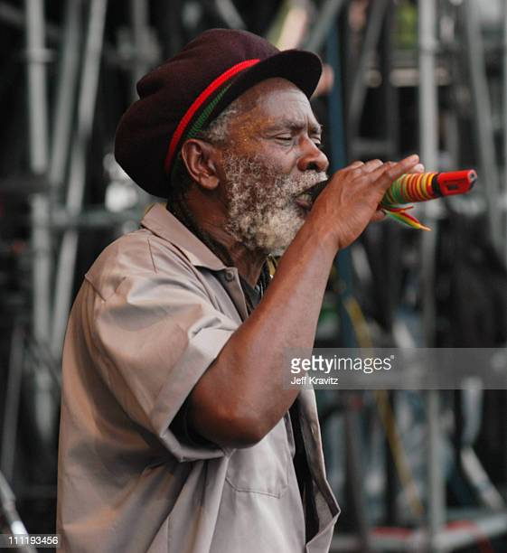 Burning Spear during Bonnaroo 2004 Day 3 Burning Spear at Centeroo Performance Fields 'What Stage' in Manchester Tennessee United States