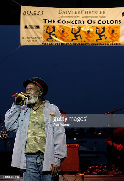 Burning Spear during Burning Spear Performs at the Concert of Colors at Chene Park in Detroit Michigan United States