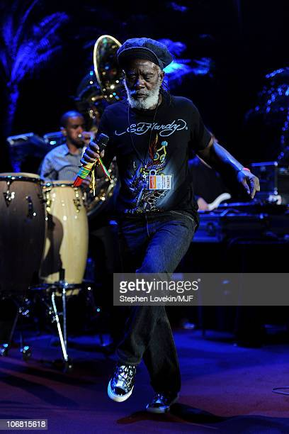 Burning Spear performs during the Michael J Fox Foundation's 2010 Benefit 'A Funny Thing Happened on the Way to Cure Parkinson's' at The...