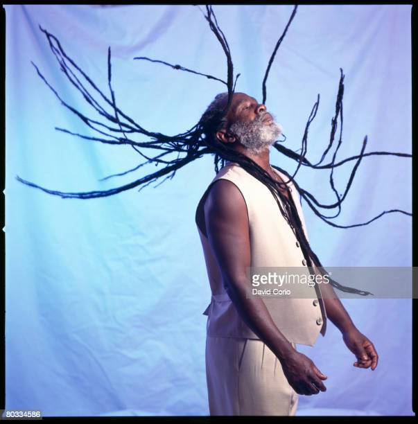 Burning Spear shakes his dreads during a photo session in 2000 in New York City New York