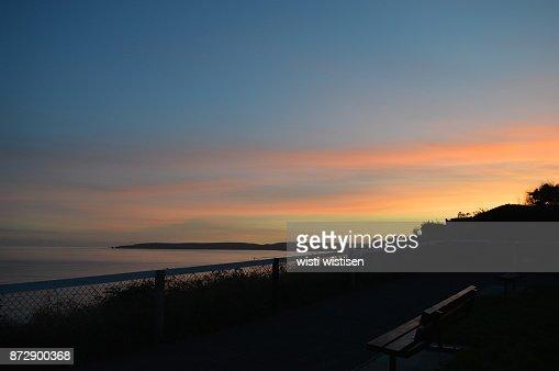 burning summer twilight : Stock Photo