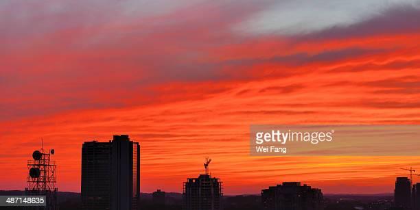 Burning Sunset Clouds