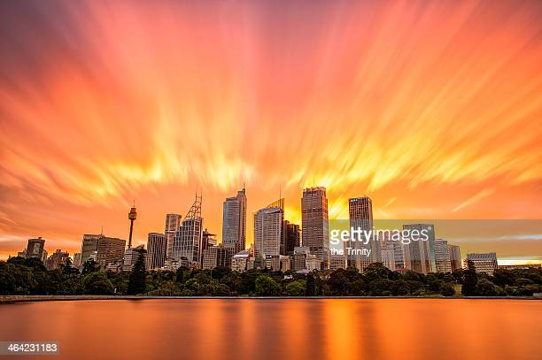 Burning Sydney Skyline