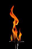 burning torch