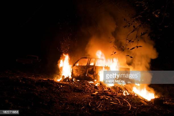 Burning truck
