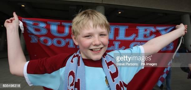 A Burnley fan outside the stadium
