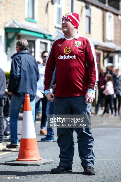 Burnley fan prior to the Premier League match between Burnley and Manchester United at Turf Moor on April 23 2017 in Burnley England