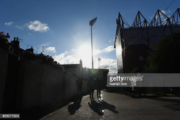 Burnley fans walk to Turf Moor before the preseason friendly match between Burnley and Celta Vigo at Turf Moor on August 1 2017 in Burnley England
