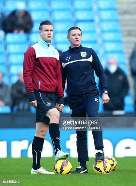 Burnley First Team Coach Tony Loughlan and Burnley's Kevin Long