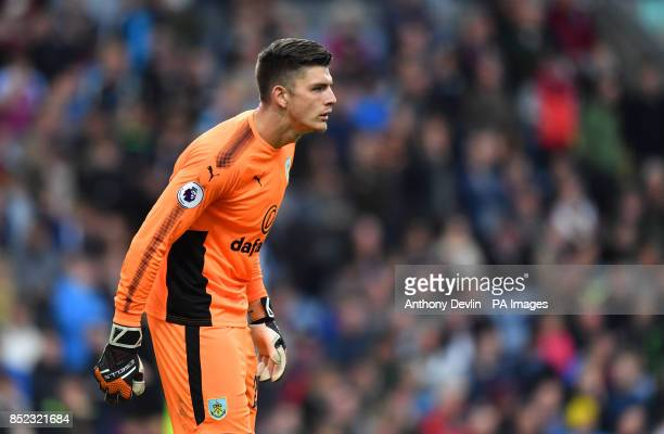 Burnley goalkeeper Nick Pope during the Premier League match at Turf Moor Burnley