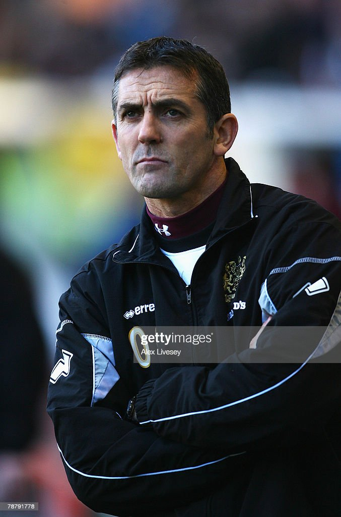 Burnley Manager Owen Coyle looks on during the FA Cup sponsored by E.ON Third Round match between Burnley and Arsenal at Turf Moor on January 6, 2008 in Burnley, England.