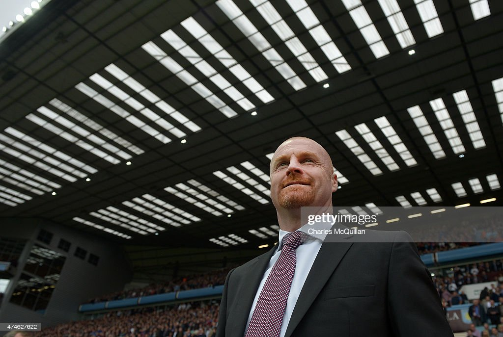Burnley manager Sean Dyche during the Barclays Premier League match between Aston Villa and Burnley at Villa Park on May 24, 2015 in Birmingham, England.